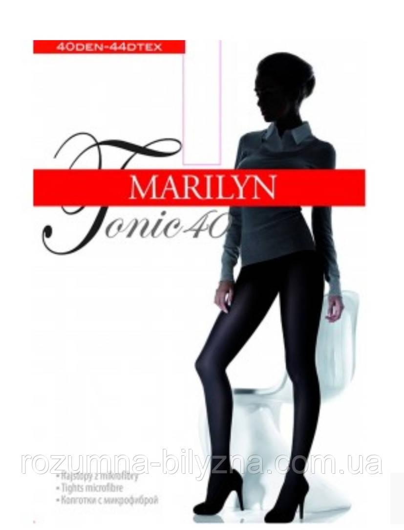 Колготи червоного кольору 40 den TM Marilyn Розміри 2. 3