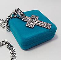 Серебряный крест Meridian 925 пробы (Кр0003ч)