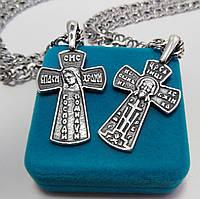 Серебряный крест Meridian 925 пробы (Кр0012ч)