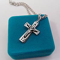 Серебряный крест Meridian 925 пробы (Кр0013ч)