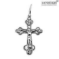 Серебряный крест Meridian 925 пробы (Кр0014)