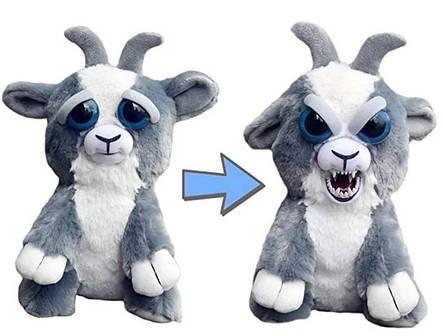 Интерактивная игрушка Feisty Pets злобная зверюшка Плюшевый Козлик 20 см, фото 2