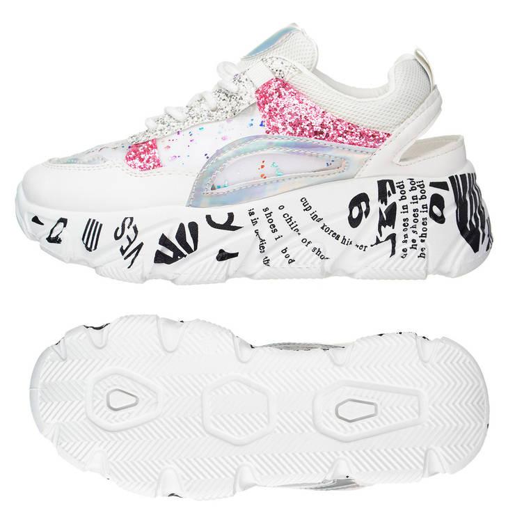 Жіночі кросівки EAC Fashion 38 White Pink, фото 2