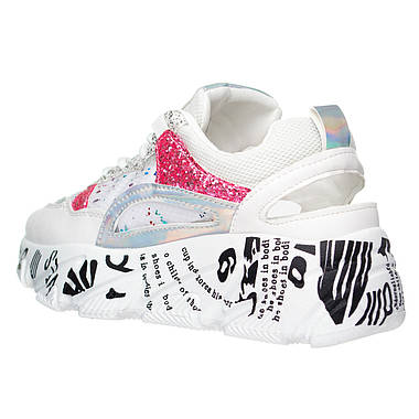 Жіночі кросівки EAC Fashion 38 White Pink, фото 3