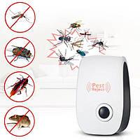 Комнатный ультразвуковой отпугиватель тараканов, мух, комаров и мелких грызунов Pest reject new