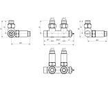 """Терморегулируемый кран Марио 50мм, G1/2"""" комплект MARIO, фото 2"""