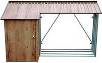 Металлическое накрытие для дров с сараем Duramax