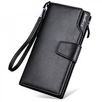 Кошелек Baellerry S1063 BLACK, Вместительный кошелек мужской, Портмоне мужское, Мужской клатч-портмоне