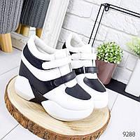 Кроссовки женские Reez черные + белый