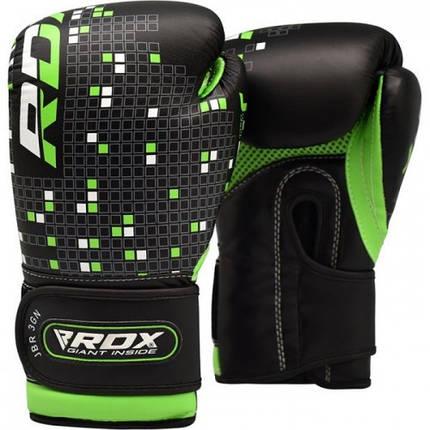 Детские боксерские перчатки RDX Green, фото 2
