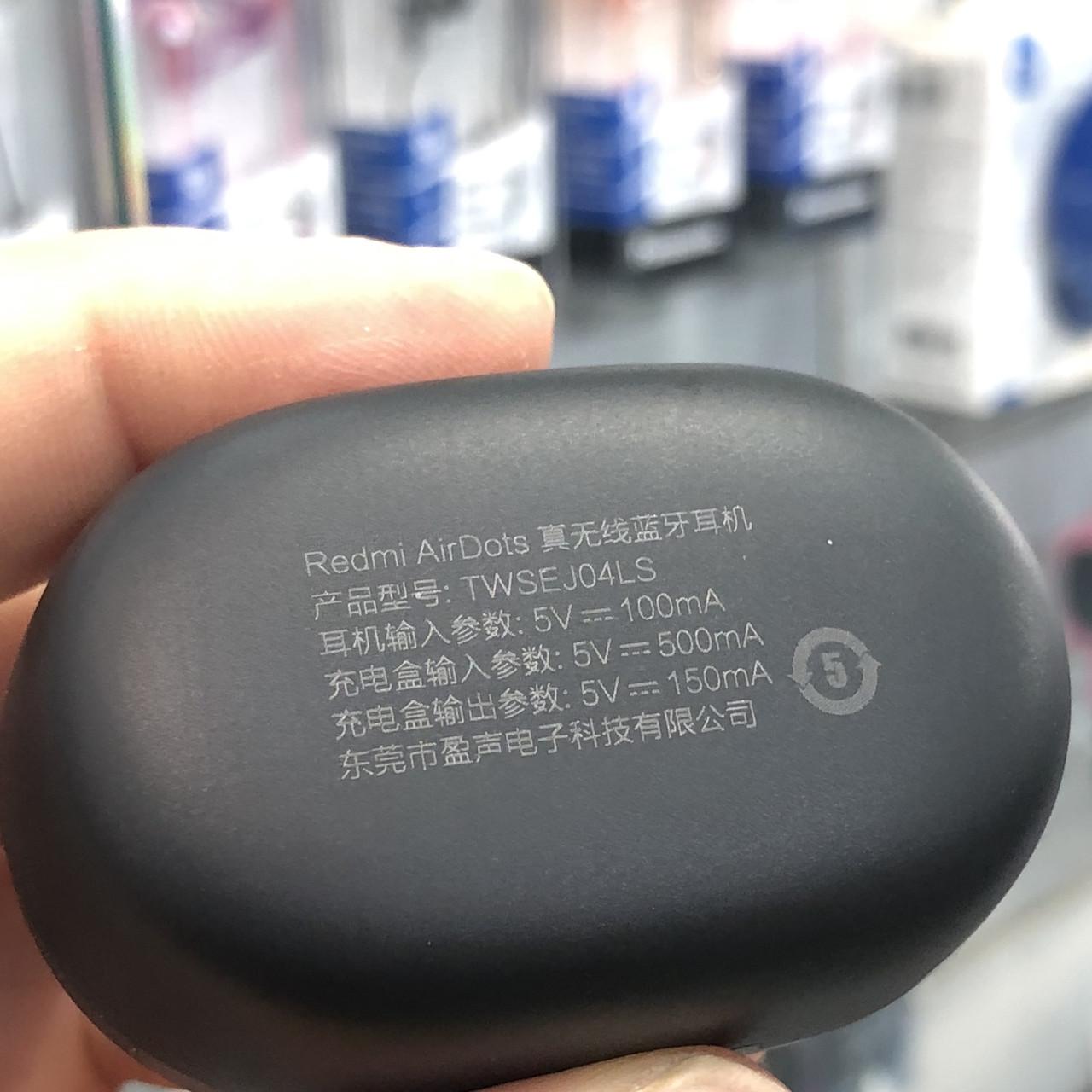 Гарнитура bluetooth Xiaomi Redmi AirDots Black Оригинал! Силикон Без крепления Bluetooth Черный