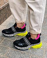 Яркие женские кожаные кроссовки комбинированные Carlo Pachini, 37, фото 1