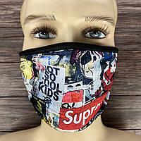 """Многоразовая маска на лицо """"Supreme"""""""