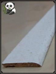 Пробковая кромочная планка с пазом белая 900х30х5мм, LB1