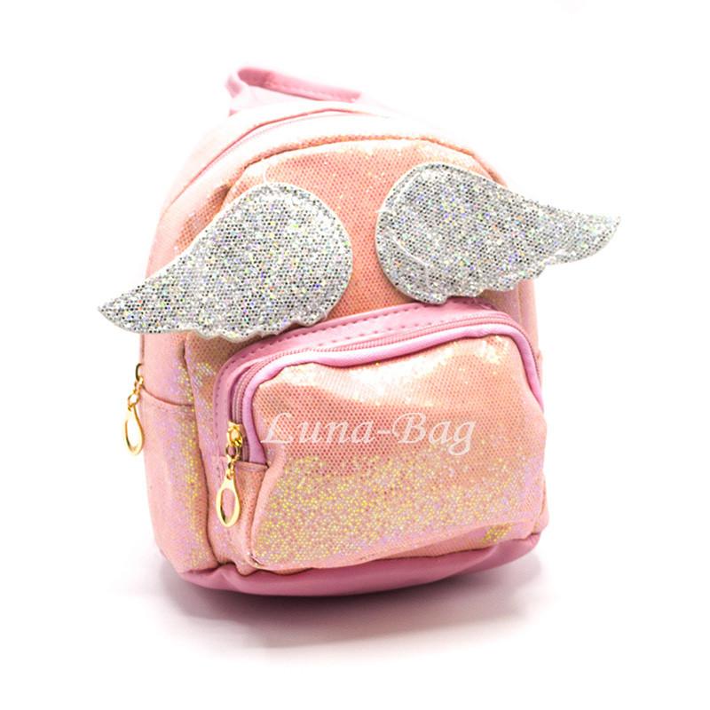 Блестящий рюкзак с крылышками 4 Цвета Розовый