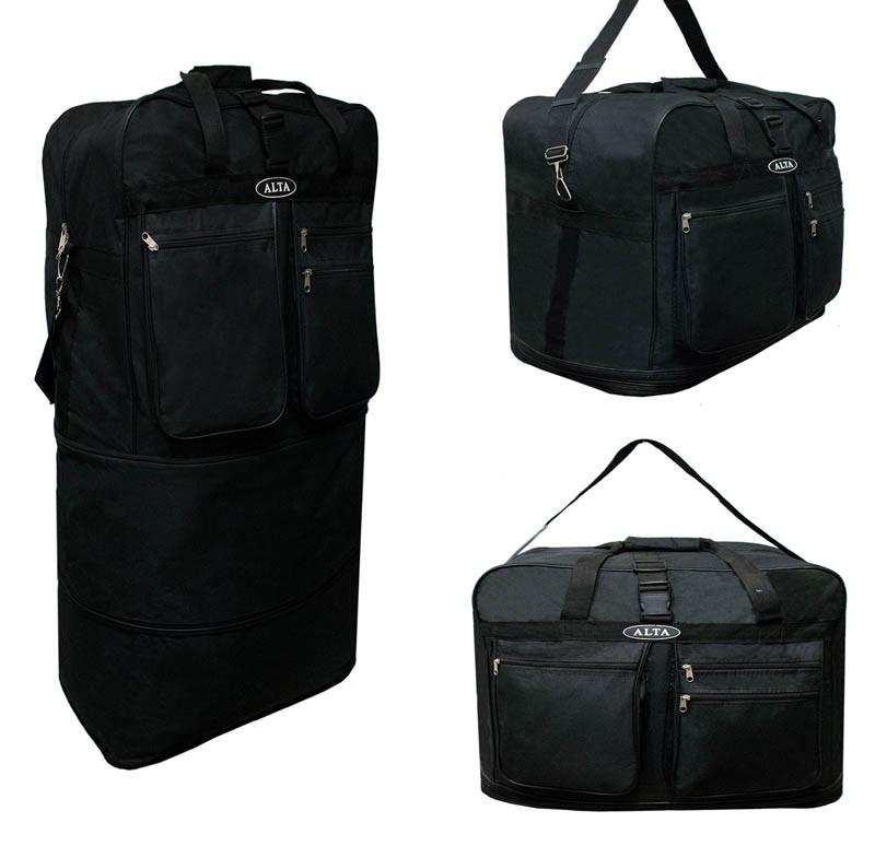 Вместительная дорожная сумка трансформер. Цвет Черный