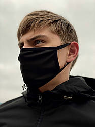 Маска мужская | женская защитная тканевая x black