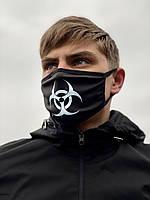 Маска мужская | женская защитная тканевая VIRUS-COBRA x black