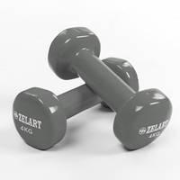 Гантели для фитнеса с виниловым покрытием Zelart Beauty TA-5225-1 (1x4кг)