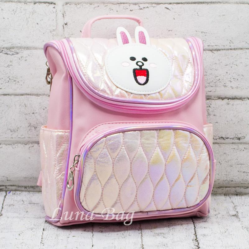 """Детский перламутровый рюкзак """"Зайчик""""  3 Цвета Розовый"""