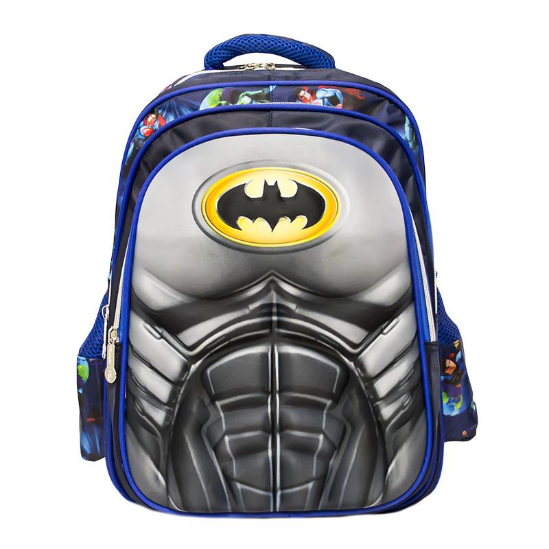 Детский рюкзак-чемодан 4 рисунка (Batman) Цвет Синий