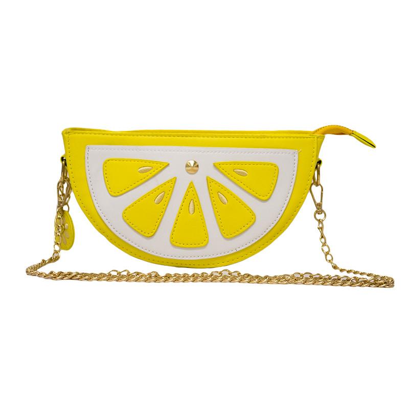 Женская сумка в виде дольки лимона Цвет жёлтый