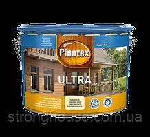 Pinotex Ultra Lasur 10л Пинотекс Ультра Лазур (тик, калюжниця, орегон, горіх, червоне дерево, палісандр). Лак