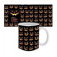 Чашка с принтом 63603 Happy Halloween улыбки Джека