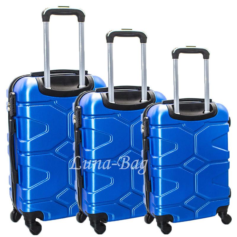 Набор из трех чемоданов 5 Цветов Синий
