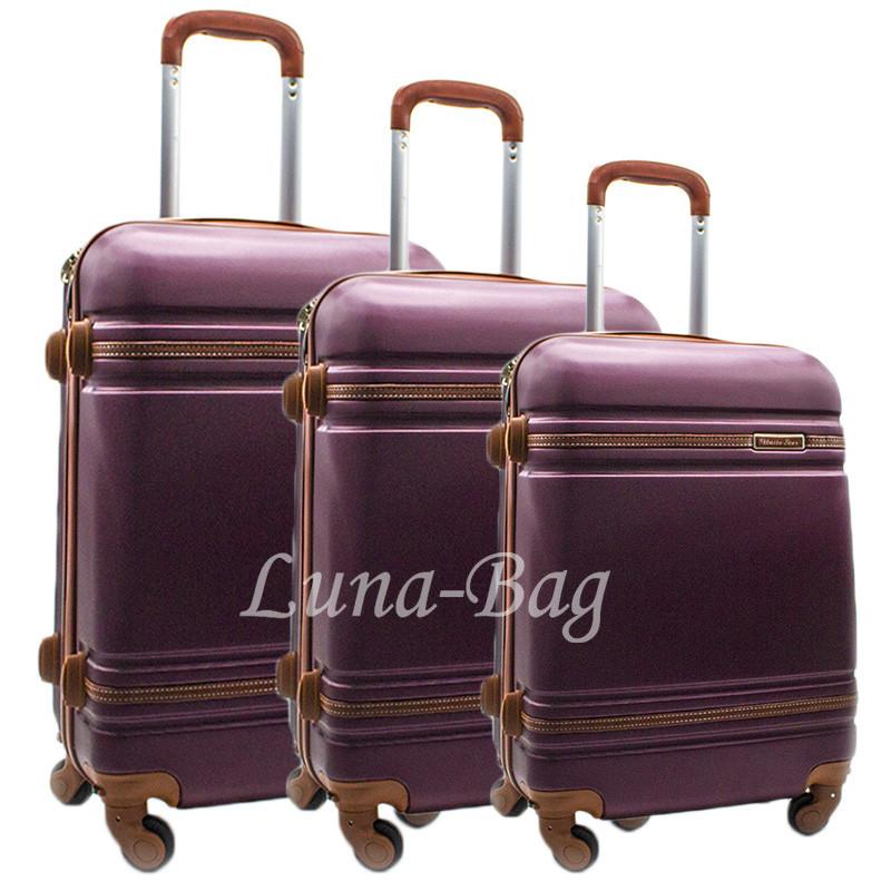 Набор из трех чемоданов 6 Цветов Бордовый