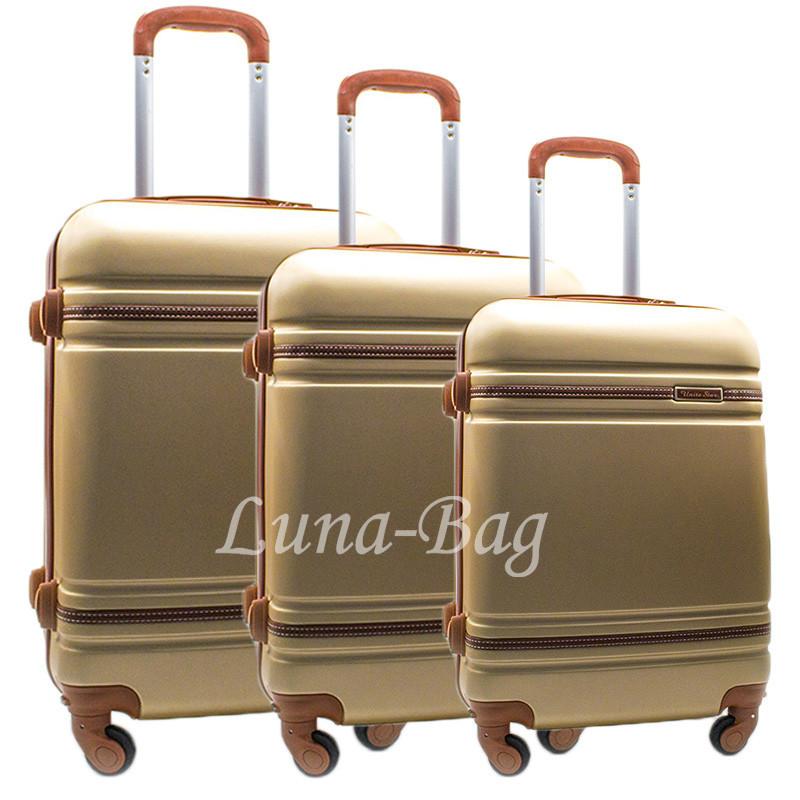 Набор из трех чемоданов 6 Цветов Золотой