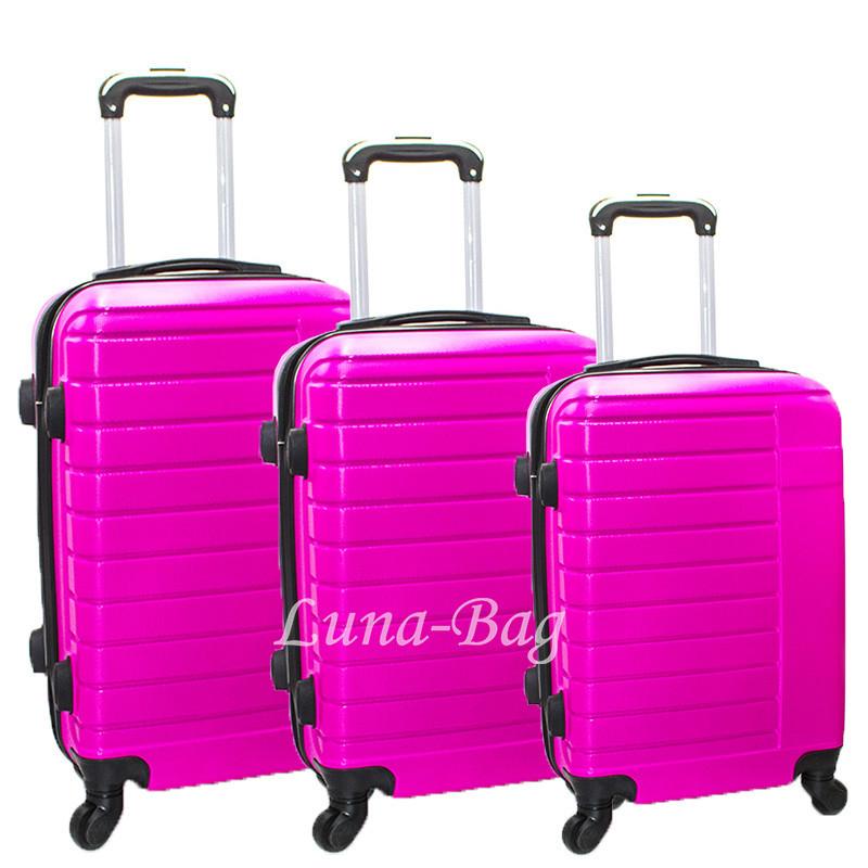 Набор из трех чемоданов 6 Цветов Розовый