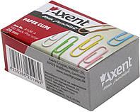"""Скріпки """"Axent"""" №4106 28мм (100шт) круг. кольорові(20)(240)"""