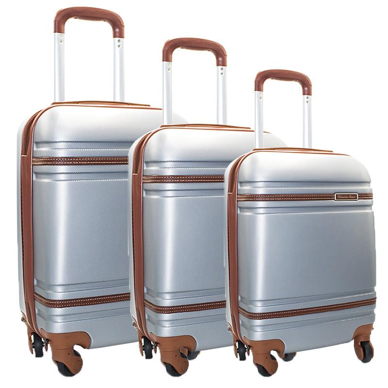 Набор из трех чемоданов 6 Цветов Серый