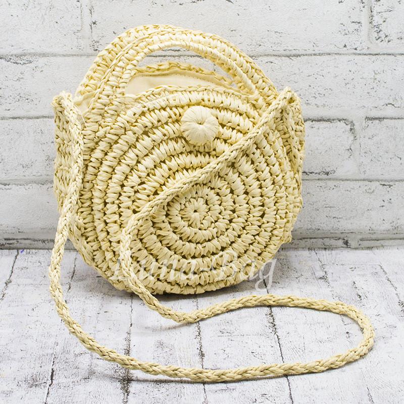 Плетеная Сумка 2 Цвета Светлый