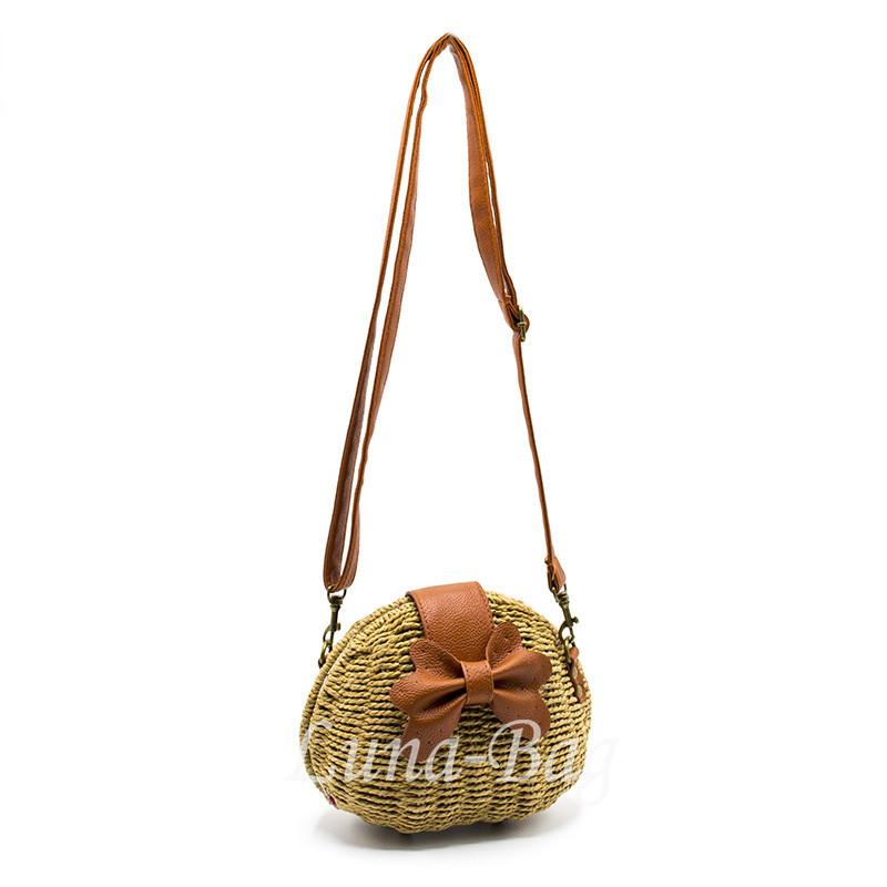 Плетеная сумка 3 Цвета Бежевый