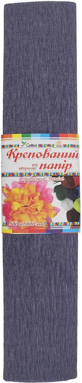 Папір гофра №10.1 2м х50см (св.-сірий)(5)