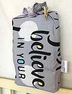 Комплект односпального постельного белья Halftones Спящий единорог Бязь Голд Люкс 160х220 Серая (HT4079), фото 6