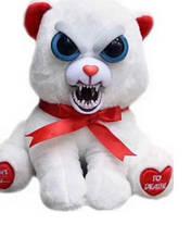 Интерактивная игрушка Feisty Pets злобная зверюшка Мишка с красной лентой 20 см