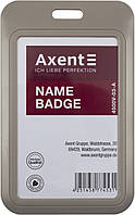 "Бейдж-слайдер ""Axent"" №4500V-03-A вертик. 54х85мм,сірий(5), фото 1"