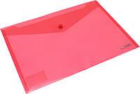 """Папка-конверт """"Scholz"""" №03500 A4 на кнопці PP червона(12), фото 1"""