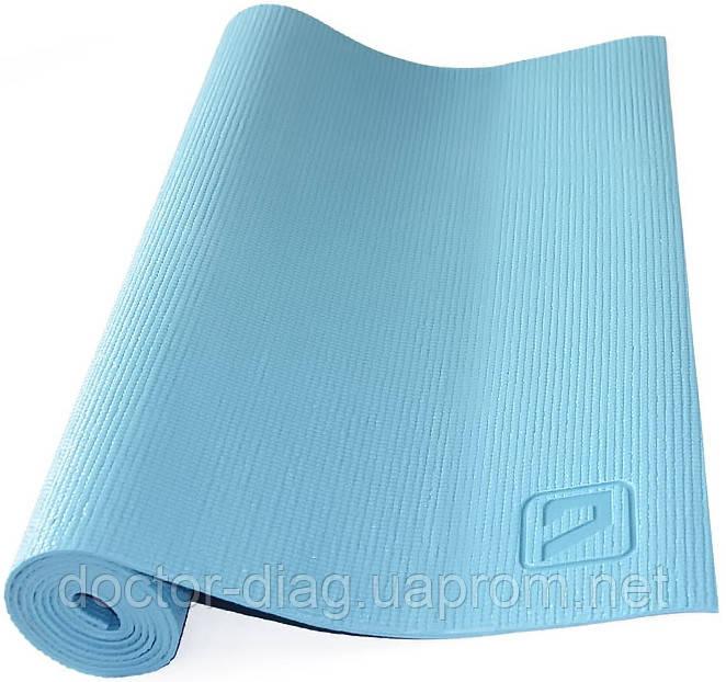 LiveUp Коврик для йоги LiveUp PVC YOGA MAT (голубой)