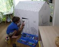 Большой набор для рисования и творчества - фломастеры, мелки, карандаши, краски
