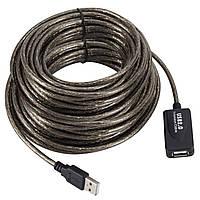 Кабель Lesko USB 10м активный удлинитель для компьютерной и цифровой техники
