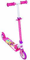 Детский самокат двухколесный «Принцессы Дисней» Smoby 750345 складной для детей