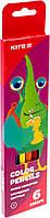 """Олівці кольор. 6 кольор. """"Kite"""" №K19-050-5 Jolliers"""