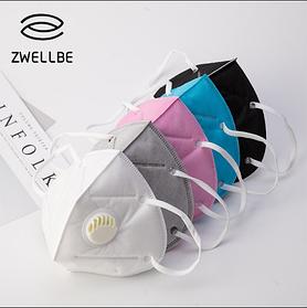 Защитная маска для лица с клапаном ZWELLBE