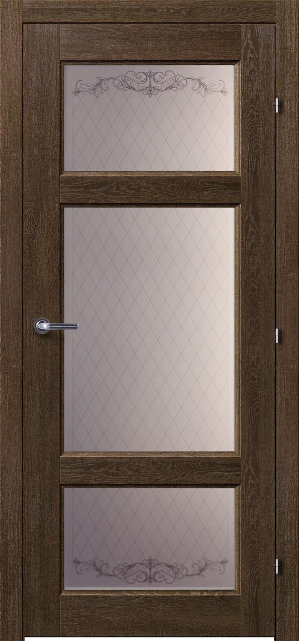 Двери межкомнатные деревянные, с массива ясеня, дуба, ольхи. Мод. 1224