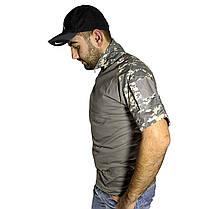 Тактическая футболка с коротким рукавом Lesko A416 Camouflage ACU L мужская для военных полиции армейская, фото 2