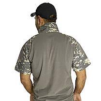 Тактическая футболка с коротким рукавом Lesko A416 Camouflage ACU XXL мужская для военных полиции армейская, фото 2